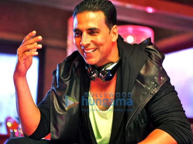 Akshay Kumar in a still from the film Boss.