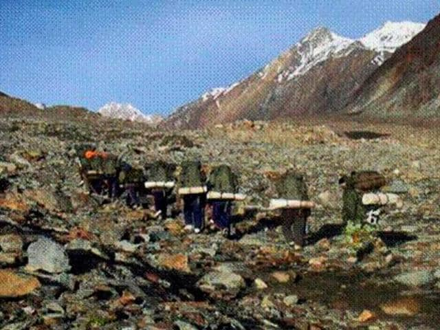 Army-expedition-is-carried-out-in-Dakka-Glacier-to-recover-the-mortal-remains-of-its-soldiers-who-lost-their-lives-in-AN-12-Transport-Aircraft-crash-in-1968-PTI-photo