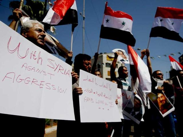 Beirut embassy,Syrian civil war,military action against Syria