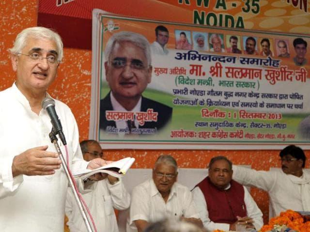 Salman Khurshid,Model Code of Conduct,Lok sabha polls