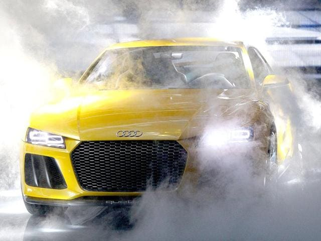 An Audi quattro sport concept hybrid car is presented during the media day of the IAA (Internationale Automobil Ausstellung) international motor show in Frankfurt am Main, western Germany. (AFP Photo)
