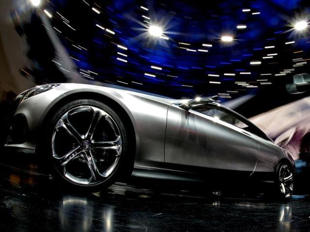 An S-Class Coupe concept car of Mercedes-Benz is displayed during the media day of the IAA (Internationale Automobil Ausstellung) international motor show in Frankfurt am Main, western Germany. (AFP Photo)