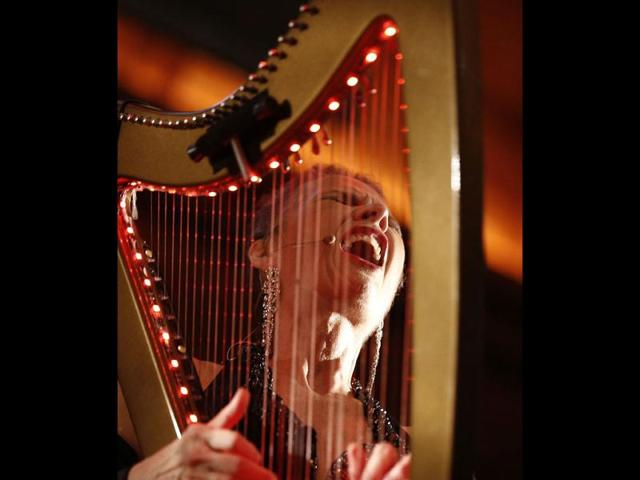 Harpist brings an unusual music to the city