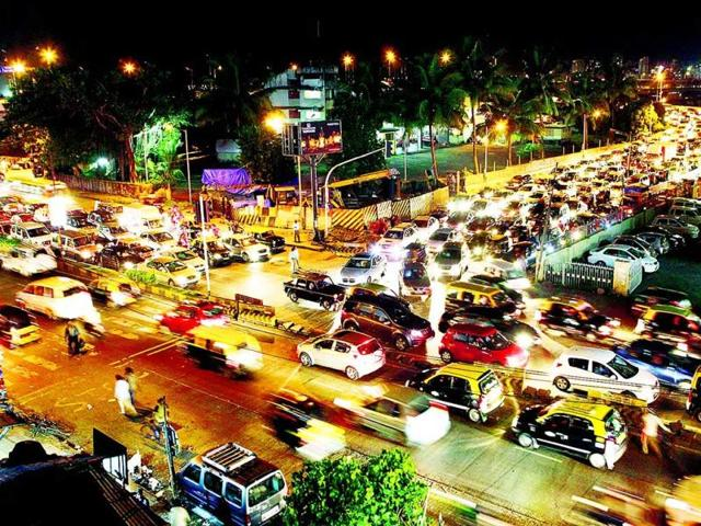 Vehicles-heading-towards-the-suburbs-get-stuck-in-traffic-jams-every-evening-on-this-stretch-of-SV-road-in-Bandra-HT-Photo