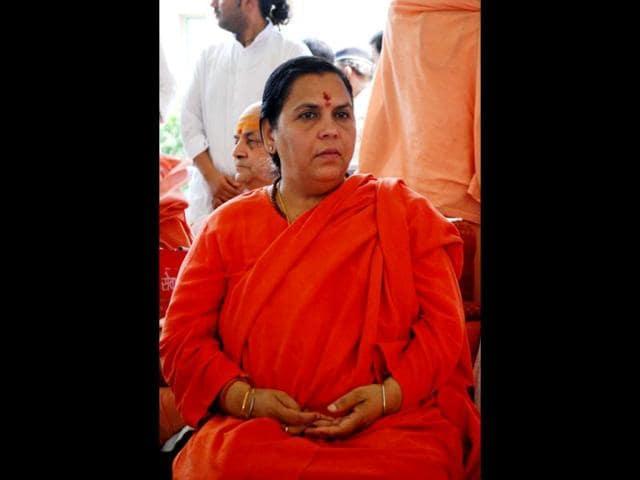 Narendra Modi,Uma Bharti,Saffron