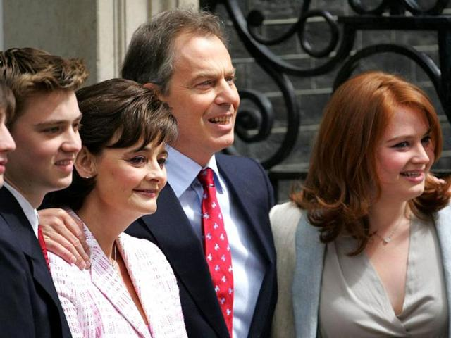 A-File-photo-of-former-British-PM-Tony-Blair-with-his-sons-Nicky-L-Euan-2nd-L-wife-Cherie-and-daughter-Kathryn-R-at-No-10-Downing-Street-in-London-after-he-was-returned-to-power-in-the-general-election-AFP-photo