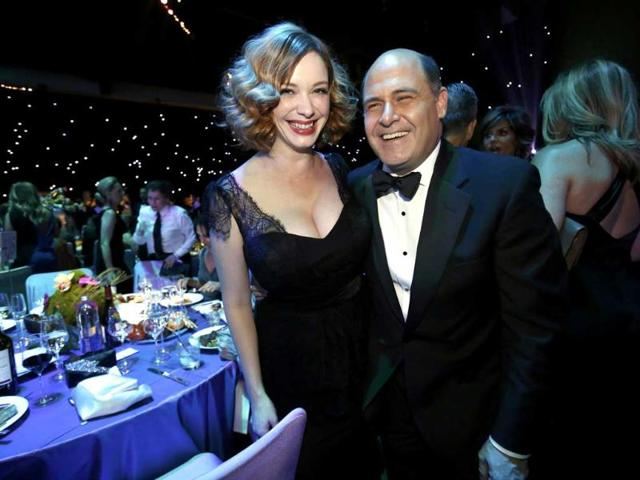 Mad-Men-creator-Matthew-Weiner-R-with-Mad-Men-actress-Christina-Hendricks-pose-at-the-Governors-Ball-for-the-65th-Primetime-Emmy-Awards-in-Los-Angeles--Reuters-Photo