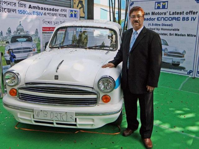 Uttam-Bose-MD-amp-CEO-Hindustan-Motors-Ltd-during-launch-of-its-new-car-Ambassador-Encore-in-Kolkata-on-Tuesday-Photo-PTI-Swapan-Mahapatra