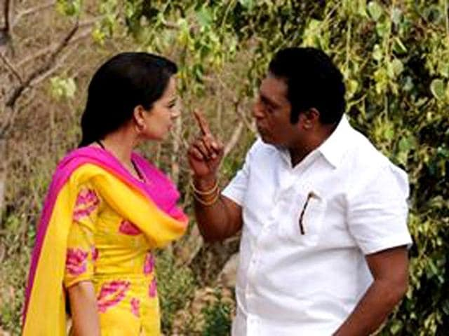 Rajjo is a film that is tells the love story of a Muslim dancer girl and a Hindu boy. Kangna Ranaut and Prakash Raj in a still from the movie.
