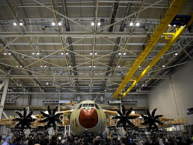 Officials-and-journalists-visit-the-A400M-assembly-line-during-the-A400M-first-delivery-ceremony-in-Sevilla-AFP-Photo