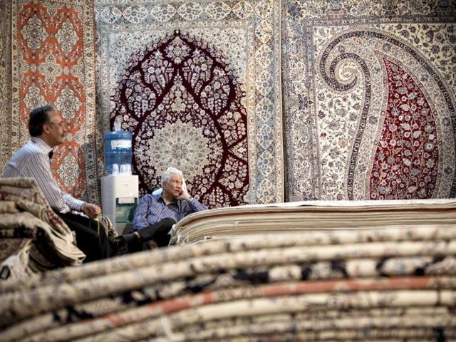 Indian hand-woven carpets