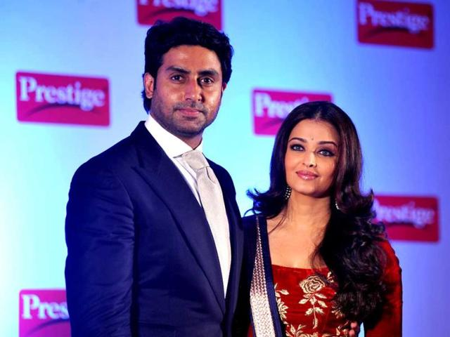 Aww-moment-Abhishek-Bachchan-and-his-wife-Aishwarya-Rai-Bachchan-during-a-press-conference-as-the-brand-ambassadors-of-the-TTK-Prestige-kitchen-appliances-in-Mumbai-AFP-Photo