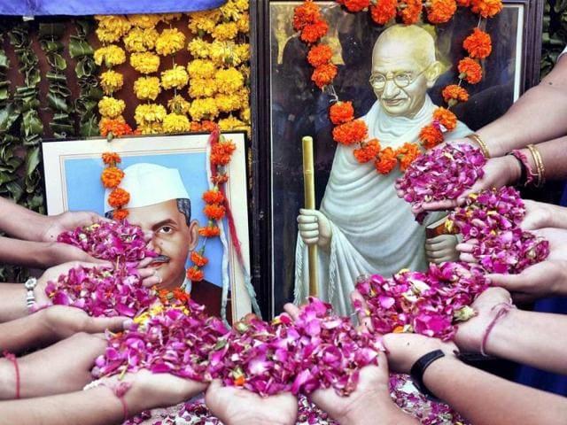 Congress,Mahatma Gandhi,Lal Bahadur Shastri