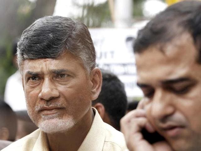 N-Chandrababu-Naidu-chief-of-Telugu-Desam-Party-TDP-at-Andhra-Bhawan-in-New-Delhi-protesting-against-the-Centre-s-decision-to-divide-Andhra-Pradesh-to-carve-out-a-separate-state-of-Telangana-Ajay-Aggarwal-HT-Photo