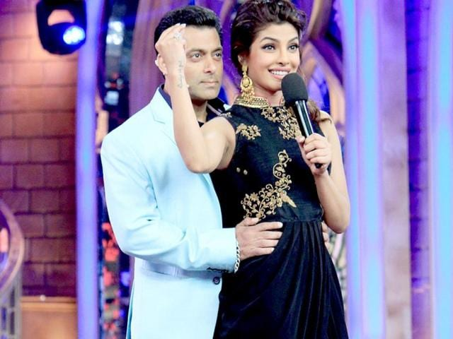 Priyanka Chopra and Salman Khan groove together.