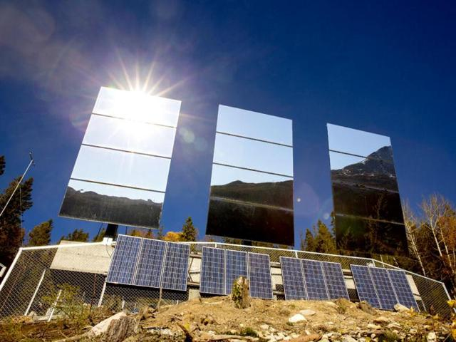 Five-million-kroner-849-000-was-raised-for-the-project-and-now-three-183-square-feet-mirrors-tower-over-the-north-side-of-Rjukan-A-computer-will-control-the-mirrors-so-that-they-follow-the-sun-to-reflect-the-light-on-the-market-square-AFP-Photo