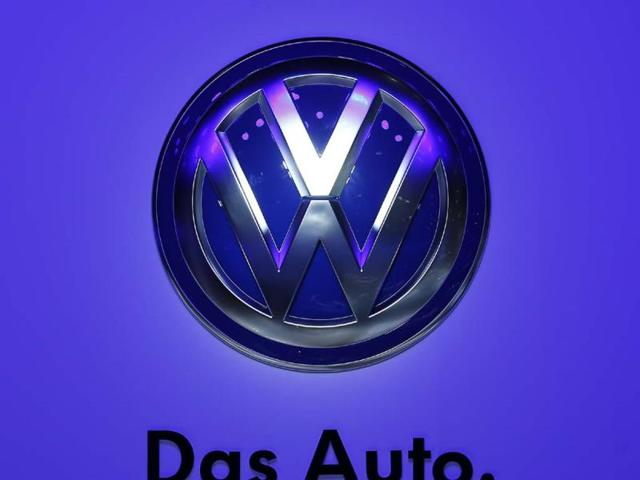 The-logo-of-Volkswagen-is-pictured-during-a-media-preview-day-at-the-Frankfurt-Motor-Show-IAA-in-this-September-10-2013-file-photograph-German-carmaker-Volkswagen-posted-higher-third-quarter-operating-profit-as-record-sales-at-premium-brands-Audi-and-Porsche-offset-costs-of-an-engineering-overhaul-Operating-profit-in-the-three-months-through-September-at-Europe-s-largest-automotive-group-rose-to-2-78-billion-euros-2-38-billion-pounds-from-2-32-billion-euros-in-the-same-period-a-year-earlier-the-Wolfsburg-based-company-said-in-a-statement-on-October-30-2013-Photo-Reuters-Pawel-Kopczynski