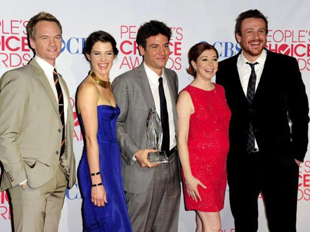 The-cast-of-How-I-Met-Your-Mother-L-R-Neil-Patrick-Harris-Cobie-Smulders-Josh-Radnor-Alyson-Hannigan-and-Jason-Segel-at-the-2012-People-s-Choice-Awards-at-the-Nokia-Theatre-in-Los-Angeles-AFP-photo