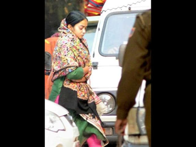BSP-MP-Dhananjay-Singh-s-wife-Jagriti-Singh-accused-of-murdering-her-maid-being-brought-to-Chankyapuri-police-station-in-New-Delhi-PTI-Photo