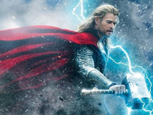 Chris Hemsworth as protagonist Thor in the sequel.