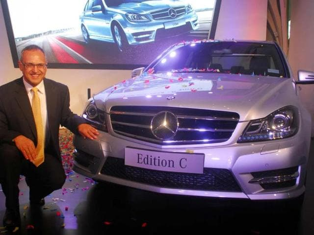 Mr-Eberhard-Kern-MD-and-CEO-Mercedes-Benz-india-Launch-new-edition-C-Class-mercedes-benz-in-india-Mumbai-on-12th-nov-2013-Photo-HT-Prodip-Guha