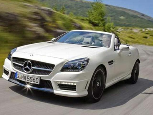 mercedes cars,luxury saloon,mercedes slk 55 amg in india