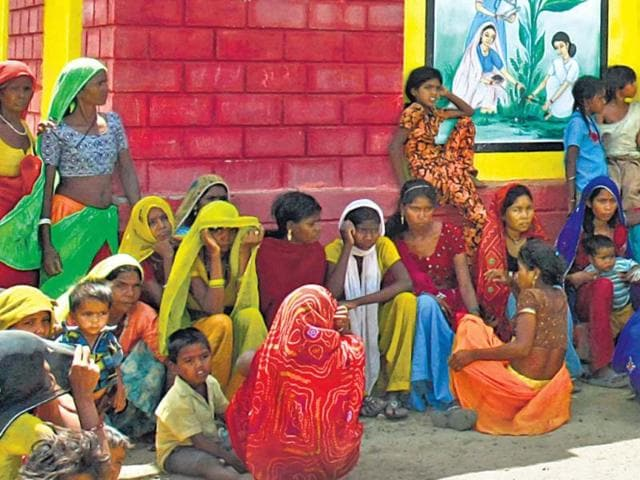 A-meeting-of-Dalit-women-in-Baran-district-of-Rajasthan-Will-the-state-have-an-equivalent-of-Mayawati-Himanshu-Vyas-HT-Photo