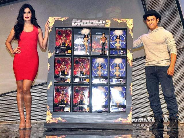 The beauty and the perfectionist: Katrina and Aamir launch celebrity dolls.