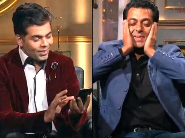 Karan Johar,Koffee with Karan,Salman Khan