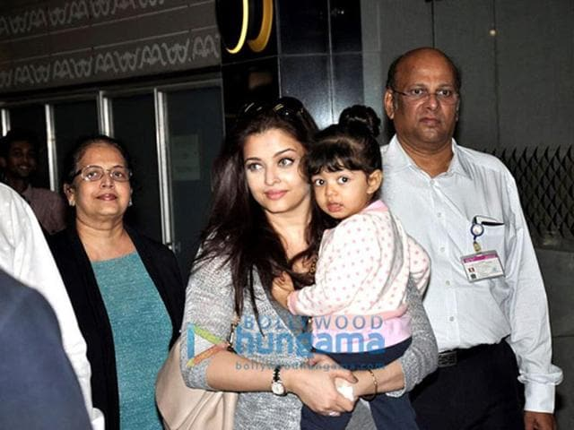 Aishwarya Rai-Bachchan was spotted exiting the airport with her little handful Aaradhya. Ash