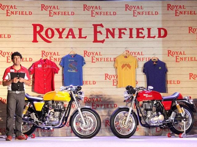 Royal-Enfield-s-new-Continental-GT-model-being-introduced-at-Siridao-in-Goa-during-a-launch-event-AFP-Photo