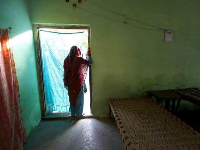 The 45-year-old rape victim has taken refuge in Jogia Khera village, Muzaffarnagar. The victims fear injustice and are scared of returning to their homes in Fugana. (Raj K Raj/ HT Photo)