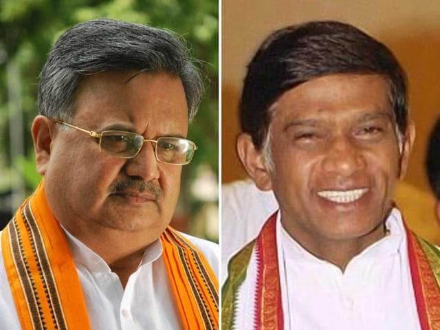 Chief-minister-of-Chhattisgarh-Raman-Singh-and-Ajit-Jogi-the-first-CM-of-the-state-HT-Photo