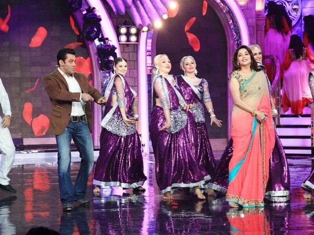 salman khan,madhuri dixt,entertainment