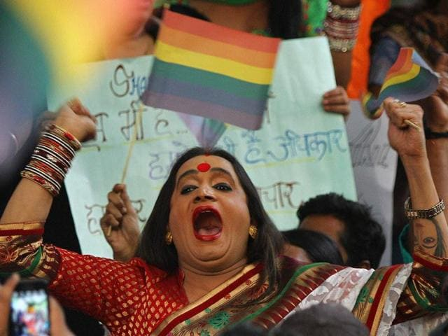 LGBT activists protest against Supreme Court