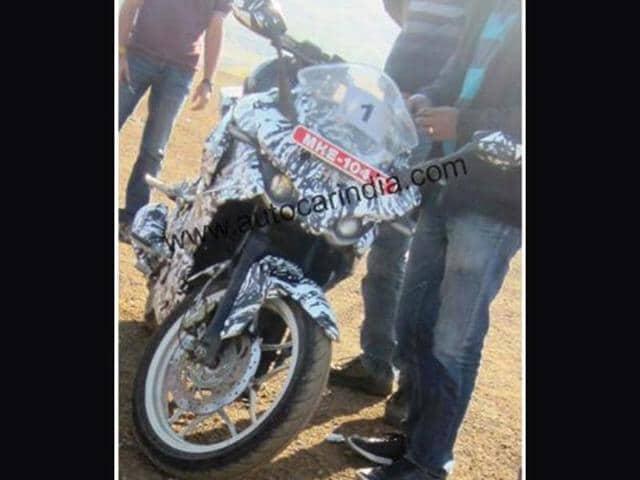 Faired-Bajaj-Pulsar-spotted-testing-again