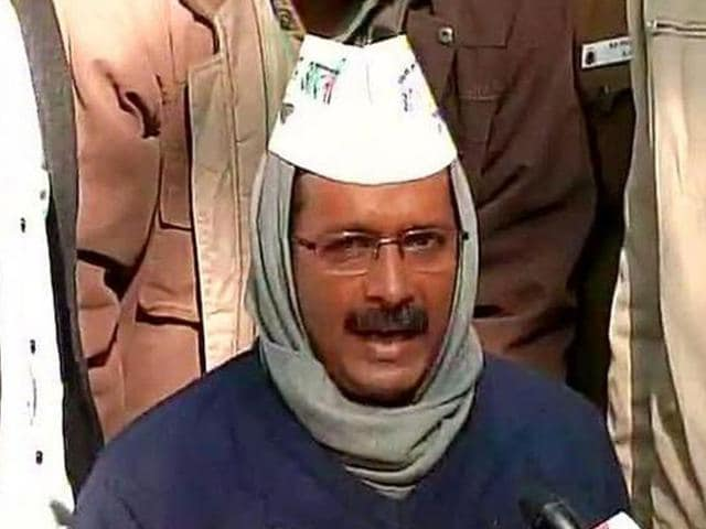 Aam-Aadmi-Party-leader-Arvind-Kejriwal-speaking-to-reporters-after-his-meeting-with-Lt-Governor-Najeeb-Jung-ANI