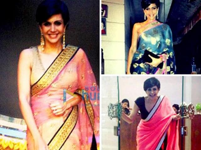 First we thought it was just fondness, but after opening her own sari store, we realized Mandira just doesn