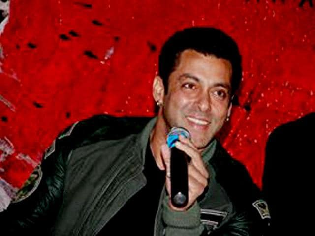 Actor Salman Khan at the launch of the first trailer of Jai Ho.