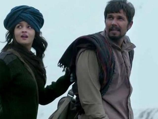 Alai Bhatt, Randeep Hooda in a still from Highway.