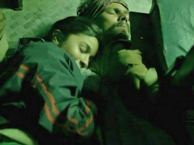 Alia Bhatt and Randeep Hooda in a still from Imtiaz Ali