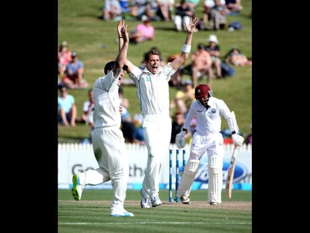 New-Zealand-s-Tim-Southee-appeals-for-the-wicket-of-Veerasammy-Permaul-of-the-West-Indies-during-day-three-of-the-third-Test-against-the-West-Indies-at-the-Seddon-Park-in-Hamilton-AFP-Photo