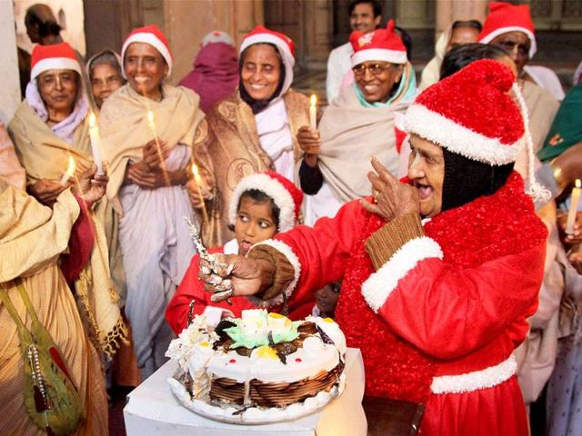vrindabans widowschristmasholi - Do They Celebrate Christmas In India