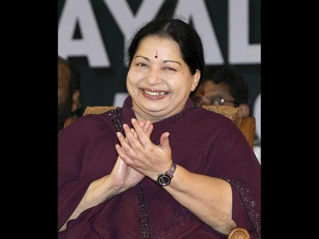 A-file-photo-of-leader-of-All-India-Anna-Dravida-Munnetra-Kazhagam-Aiadmk-party-and-chief-minister-of-Tamil-Nadu-J-Jayalalithaa-AFP