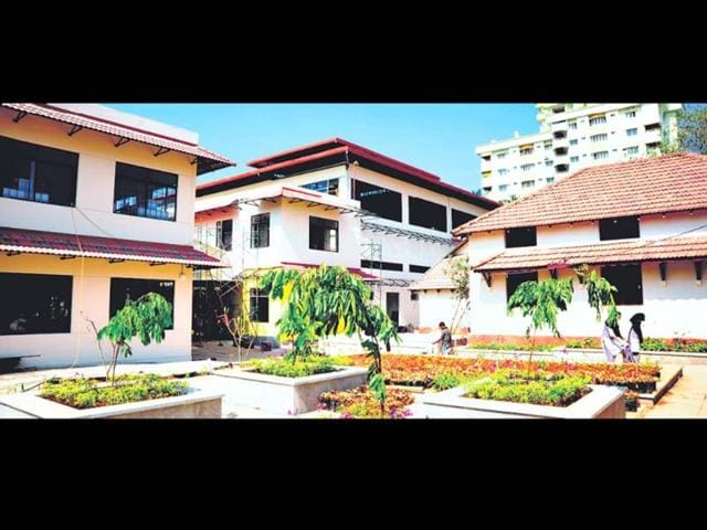High-tech-classrooms-with-200-computers-a-vast-library-a-laboratory-50-modern-toilets-a-dining-room-with-a-capacity-of-more-than-2500-students-a-gym-and-a-big-indoor-stadium-make-this-school-in-Nadakavu-in-north-Kerala-a-truly-special-one-HT-Photo