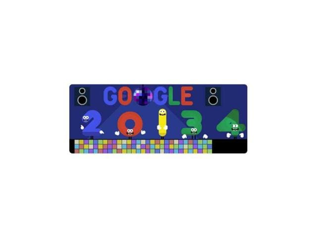 google doodle,google disco,new year