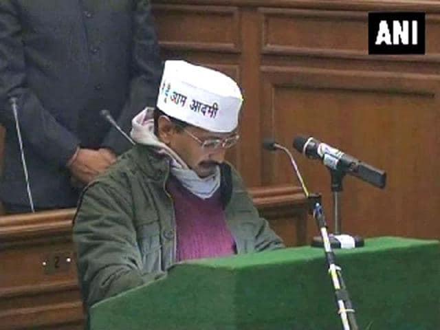 Delhi-chief-minister-Arvind-Kejriwal-greets-people-on-during-his-inaugural-Janata-Darbar-at-Delhi-Secretariat-PTI-photo