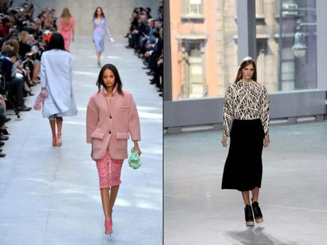 Burberry-pastels-left-and-big-skirts-at-Proenza-Schouler-right-Pic-courtesy-AFP
