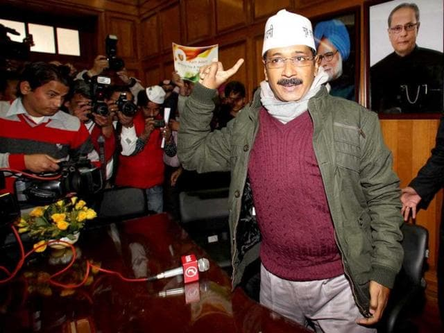 Delhi-chief-minister-Arvind-Kejriwal-interacts-with-the-media-during-the-first-day-of-Delhi-legislative-assembly-session-PTI