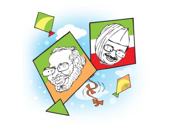 Kejriwal, Modi in 'kite fight' in Indore skies this Makar Sankranti